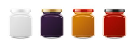 Clear Jar mockup. Small size royalty free stock photography