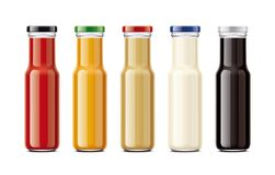Bottles for sauces Stock Photography