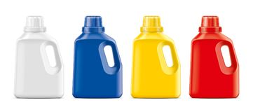 Plastic Bottles mockup. royalty free stock photography