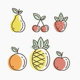 Fruit Icons Stock Images
