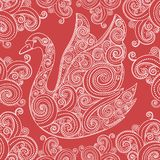 Lace swan vector Royalty Free Stock Photos