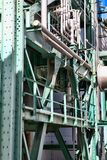 Detailed industrial background of heavy industry chemical factor. Y Royalty Free Stock Photos