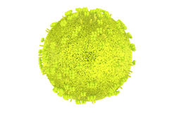 Detailed influenza virus model in green. High quality rendering of influenza virus model in green Royalty Free Stock Images