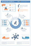 Detailed infographic elements set with  graphics and charts. Eps8 Royalty Free Stock Images
