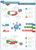 Detailed infographic elements set with  graphics and charts Stock Photography