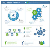 Detailed infographic elements set with  graphics and charts. Eps10 Stock Photography