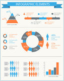 Detailed infographic elements set with  graphics and charts. Eps8 Stock Photography