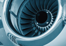 Detailed insight into jet turbines Royalty Free Stock Image