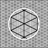 Detailed isometric grid to create volumetric images. For games Royalty Free Stock Photos