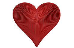 Detailed Knitted Red Heart Stock Photography