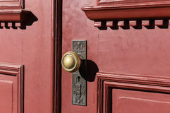 Detailed knob on an old door Stock Image