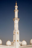 Detailed lacing design of a mosque minaret Stock Photos