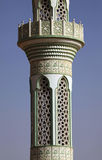 Detailed lacing design of a mosque minaret Stock Images