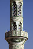 Detailed lacing design of a mosque minaret Royalty Free Stock Photo