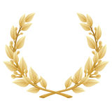 Detailed Laurel Wreath Victory or Quality Award, Royalty Free Stock Photography