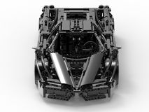 Detailed lego sports car. 3D render illustration of a detailed lego sports car. The car is isolated on a white background with shadows Stock Images