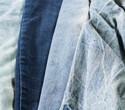 Detailed light and dark blue jean stock Stock Photos