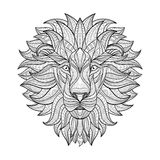 Detailed Lion in aztec style Royalty Free Stock Image