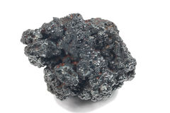 Detailed macro photo of Hematite mineral (sacred mineral) Royalty Free Stock Photography