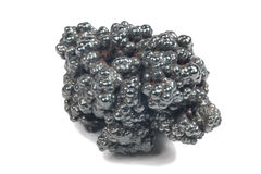 Detailed macro photo of Hematite mineral (sacred mineral) Royalty Free Stock Photo