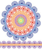 Detailed Mandala Design. Mandala Design with matching borders, easily Stock Images