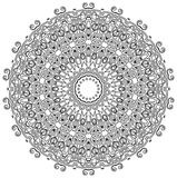 Detailed Mandala. Ornamental round mandala. Geometric circle element made in . Perfect for any other kind of design, birthday and other holiday, kaleidoscope Stock Images