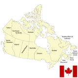 Detailed map of Canada Royalty Free Stock Photo
