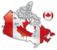 Detailed Map Of Canada Stock Photography