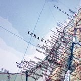Detailed map of Israel Royalty Free Stock Photo