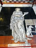 Marble Mosaic, Siena Cathedral, Tuscany, Italy. A detailed marble mosaic set into the floor of the Siena, or Sienna, Cathedral, Duomo di Siena, a medieval Roman stock photos