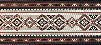 Detailed Maroon Traditional Folk Sadu Arabian Hand Weaving Patte Royalty Free Stock Image