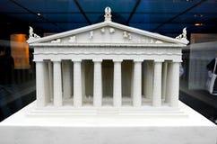 Detailed miniature model of Parthenon in Acropolis, Athens Royalty Free Stock Photography