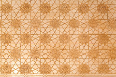 Detailed moorish plasterwork from the Alhambra Stock Images