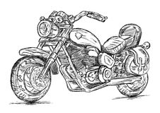 Detailed Motorcycle Bike Vector Illustration Royalty Free Stock Image