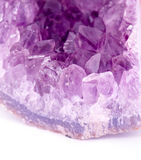 Detailed natural amethyst Royalty Free Stock Images
