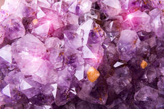 Detailed natural amethyst Stock Images