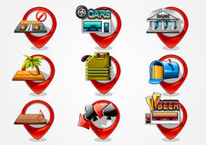 Detailed navigation icons set 3 Stock Image