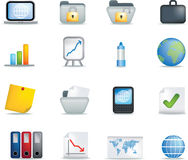 Detailed office icon set Stock Images