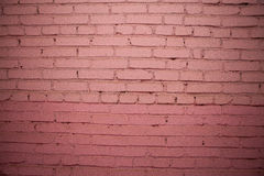Detailed old red brick wall. Background texture Stock Photos