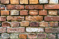 Detailed old red brick wall background texture Royalty Free Stock Images