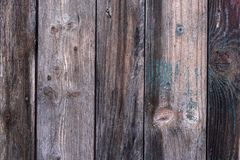 Detailed old structured wooden planks background. Vertical weathered old structured wooden planks , detailed background Royalty Free Stock Image