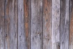 Detailed old structured wooden planks background. Vertical weathered old structured wooden planks , detailed background royalty free stock photo