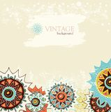 Detailed ornament background with colorful circles Royalty Free Stock Image