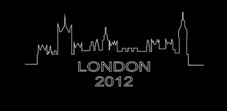 Detailed outline of a silhouette of London.  Stock Images