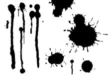 Detailed paint splats Royalty Free Stock Photography