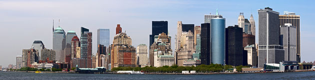 Detailed panorama of Manhattan. Royalty Free Stock Photo