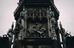 Gothic Statue of Walter Francis Montagu Douglas Scott stock photos