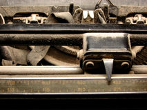 Detailed part of ruined typewriter Stock Image