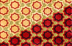 Detailed patterns on the  carpet. Royalty Free Stock Photography
