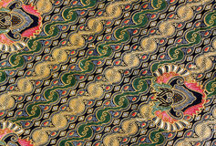 Detailed patterns of Indonesia batik cloth Stock Photography